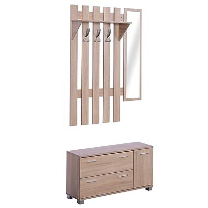 HOMCOM 3 EN 1 Conjunto de Muebles de Entrada Recibidor ...