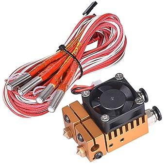 All Metal V6 extrusor de doble color 2 en 2 para impresora 3D 1.75 ...