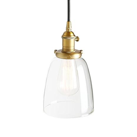 pathson - Lámpara de techo de cristal, diseño retro, Techo ...