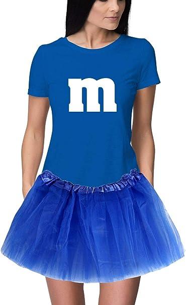 RoughTex M&M Disfraz de Carnaval para Mujer, Talla M y M, Camiseta ...