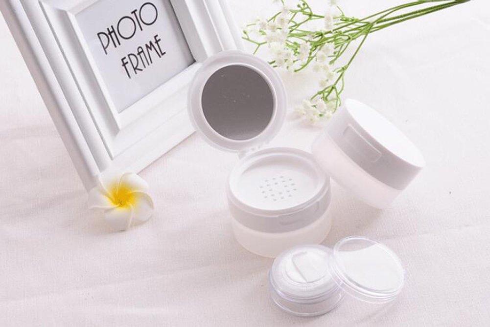 80/gram vide rechargeables Fond de teint Maquillage Houppette Bo/îte Coque Conteneur Compact avec miroir DIY Cosm/étique Poudre libre Coque