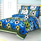 SOCCER TEAM CHIC TEENS BOYS REVERSIBLE COMFORTER SET AND SHEET SET 8 PCS FULL SIZE