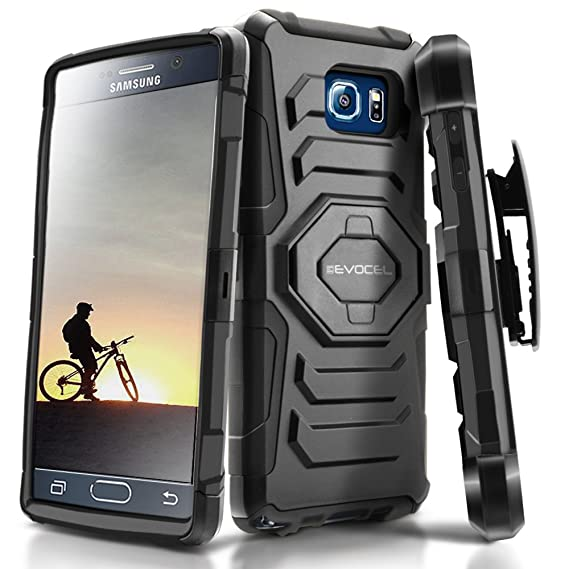 reputable site 1d16d ed810 Galaxy Note 5 Case, Evocel [New Generation Series] Belt Clip Holster,  Kickstand, Dual Layer for Samsung Galaxy Note 5, Black (EVO-SAMNOTE5-XX01)