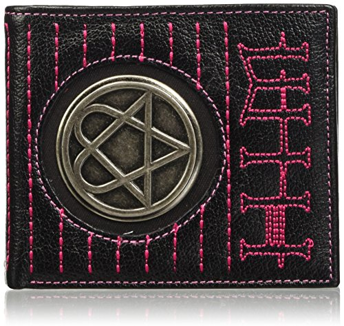 (HIM Pentagram Logo Official New Bi Fold Wallet With Tin Presentation Box)
