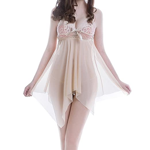 1389364be5657 Amazon.com  Qisc Women Babydoll Lingerie Set