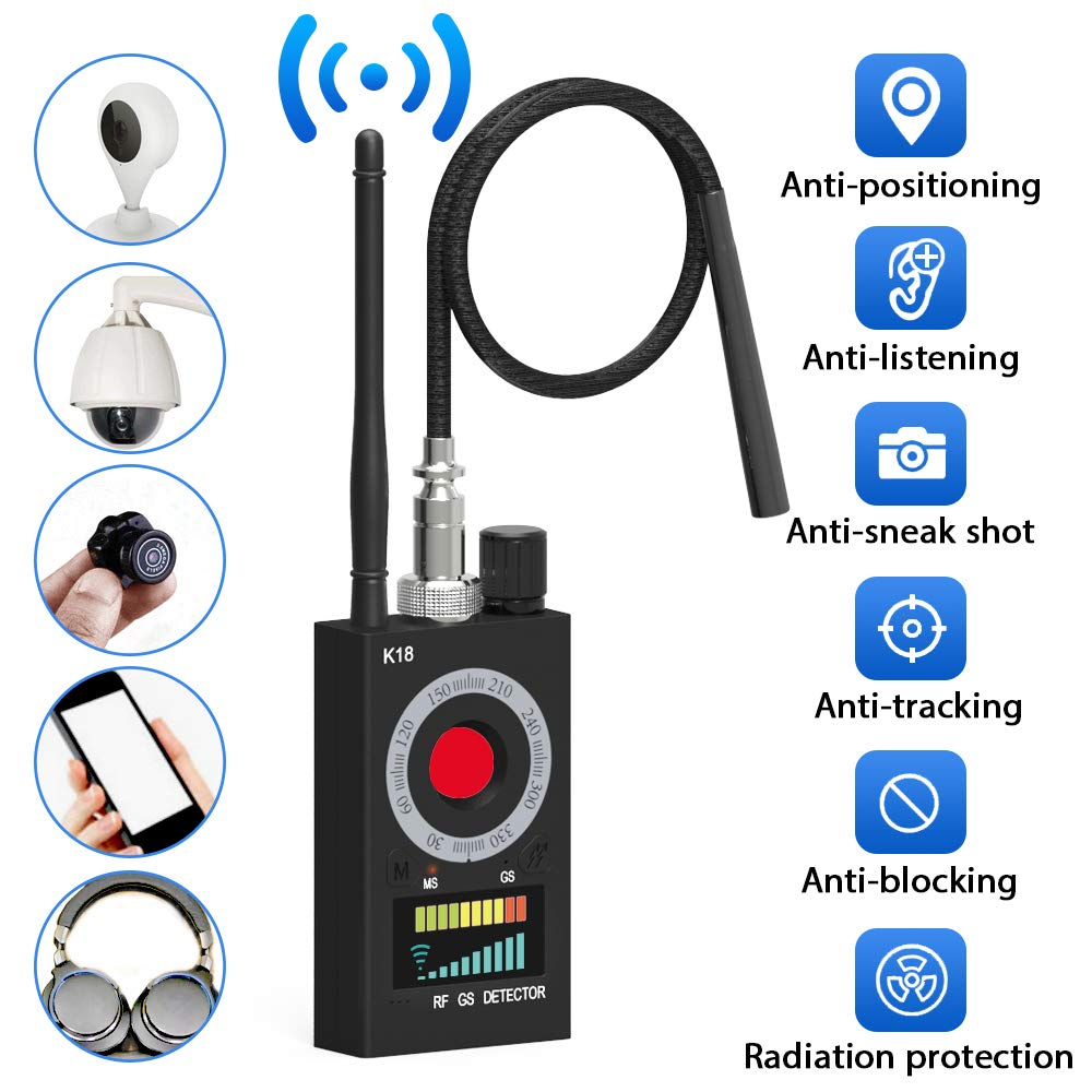Anti Spy Detector,Vecoacopd Electronic Bug Detectors RF Signal Detector GSM Tracking Device for Wireless Audio Bug Hidden Camera Detector by Vecoacopd