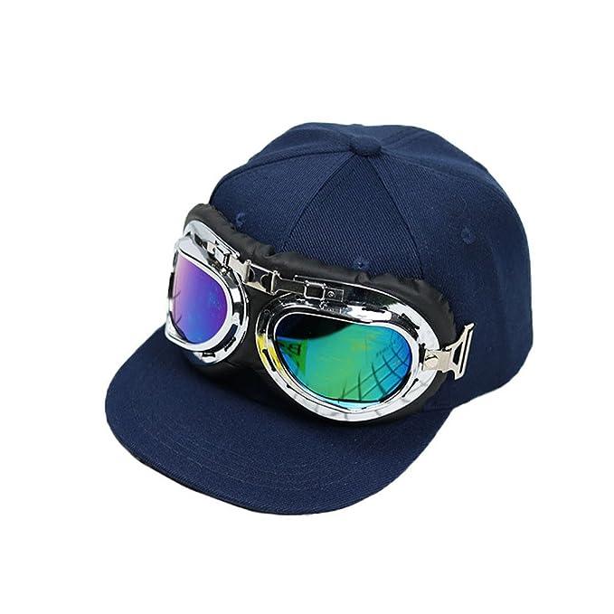 Gorra de Béisbol para Niños Chico Sombreros Niñita Niñito Gorro Hip Hop  Visera Gafas Hat el Sol Cap Para 2 3 4 5 6 Años Kids (Azul)  Amazon.es   Ropa y ... 0e91f6472ad