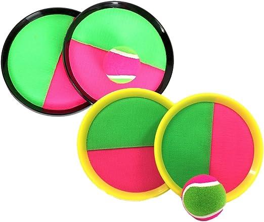STOBOK 2 Pack Catch Ball Juego de paletas Juego Sticky Ball Juguete Catch Ball Juego Juego de Lanzamiento y Captura Deportes Juguete para niños: Amazon.es: Hogar