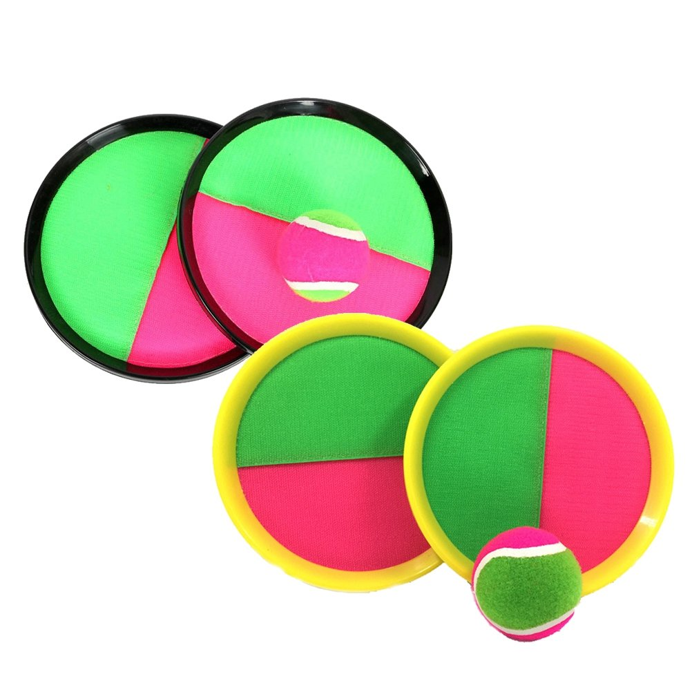 TOYMYTOY Set di giochi a paletta con sfere di cattura 2 Pack Toss And Catch Sports Outdoor Toy per bambini regalo