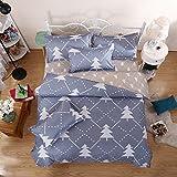 Duvet Cover Bedding Set includes Duvet Cover Flat Sheet Pillowcase No Comforter MJ Twin Full Queen Ikea Tree Wall Street Casino Angela Design for Children Teens (Ikea Tree, Gree, Queen, 78''x90'')