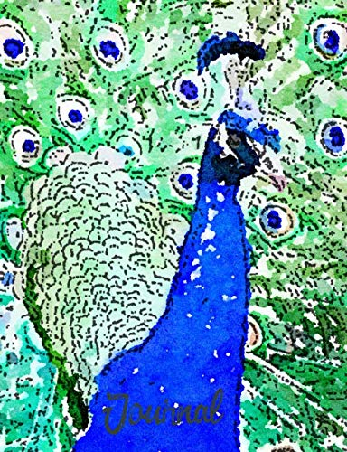 Journal: Diary and Notebook for Exotic Animal Lovers in Victorian Peacock Watercolor Theme