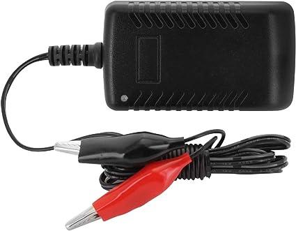 12V 3A Cargador de bater/ía de plomo /ácido Veh/ículo Auto Veh/ículos Cargador de fuente de alimentaci/ón Negro