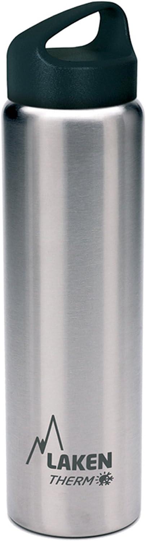 Laken Classic Botella Térmica Acero Inoxidable 18/8 y Doble Pared de Vacío, Unisex adulto, Plateado, 750 ml