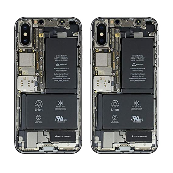 the best attitude ce104 dfd45 iPhone X Skin, Color Print Oil-Proof Sticker Back Protect Film 2 Pack  (Black)