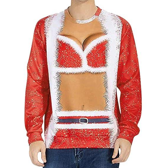 4846d90fad3c TianWlio Weihnachten Pullover Langarmshirt Bluse Hoodie Frauen Herbst  Winter Liebt   Lässig Herbst Winter Weihnachten 3D Drucken Lange Ärmel Top  Sweatshirt  ...