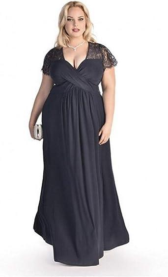 Amazon Com Vestidos Xxl Tallas Grandes Plus Tamano Para Mujer Sexys Casuales Largos De Fiesta Elegantes Negros Rojos Ve0065 Xl Azul Marino Clothing