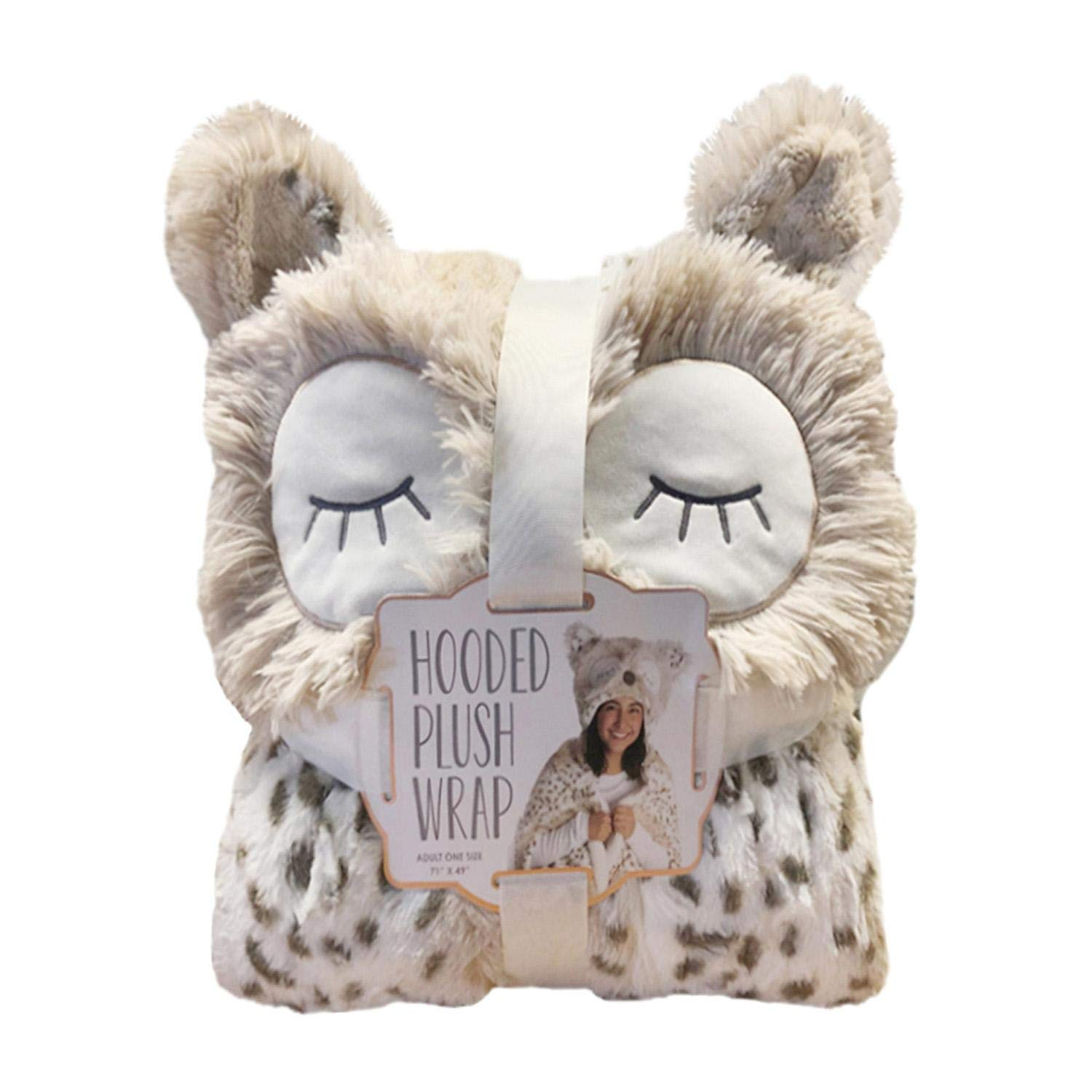 Women Owned Cozy Plush Hooded Critter WRAP ~ Animal Styles: OWL by Women Owned