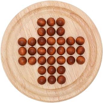 NUOBESTY 1 juego de mesa de solitario de madera con mármoles de madera, divertido juego de juguete educativo para adultos y niños: Amazon.es: Iluminación