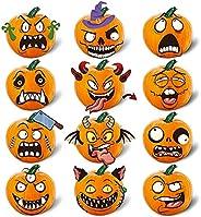 WaaHome 12 Sheets Pumpkin Decorating Kits, Halloween Pumpkin Decorating Foam Stickers Pumpkin Decorating Craft