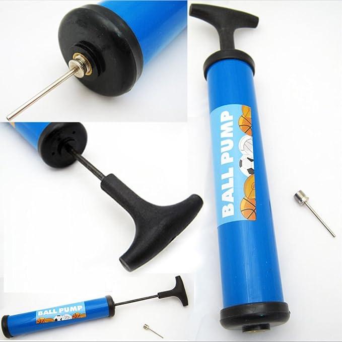 2 Hand Air Pump with Needle Footbal Basketball Ball Balloons Sports Soccer New !