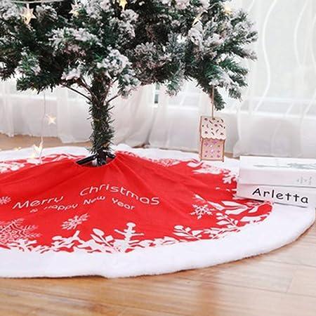 WXMYOZR Falda del Árbol De Navidad De 48 Pulgadas Circular Roja Y ...