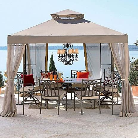 Garden Winds JCP 2010 Outdoor Oasis Gazebo Replacement Canopy