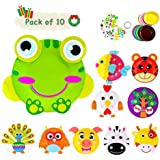 Here Fashion Pack of 10 Paper Plate Art Kit for Kids Toddler Crafts Art Toys - Transform Simple Paper Plates into…