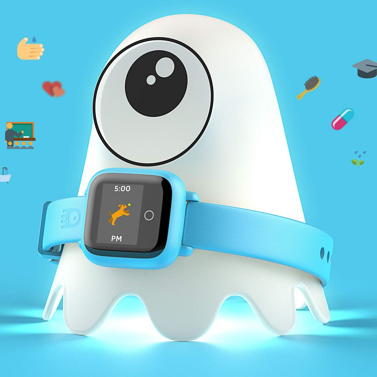 New - Octopus Kids Smart Watch v2 - Blue - Plan Activities, Responsibilities and Healthy Habits - Fitness Tracker and Electronic Daily Schedule - Night Light Included by Octopus