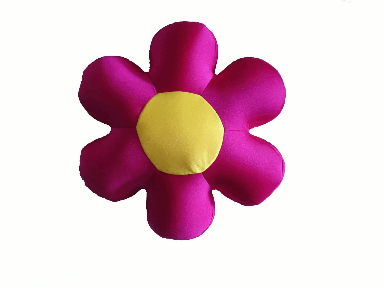 Tache Home Fashion FF10FH Squishy Fuchsia Field of Flowers Micro Bead Pillow Cushion Throw in Different Colors, 16 x 16 x 3, Fuchsia