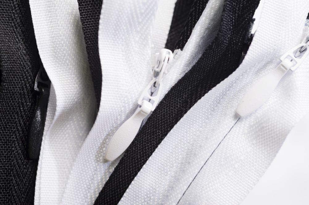 Cremallera Oculta Jajasio 50 Cremalleras Finas en Diferentes Longitudes Blanco 16 cm