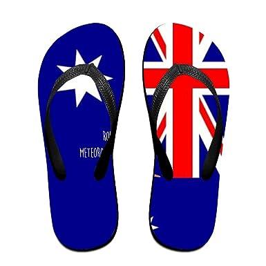 22a6974dc4d0 Amazon.com  Tailing Flip Flops Groundhog In Australian Flag Unisex ...