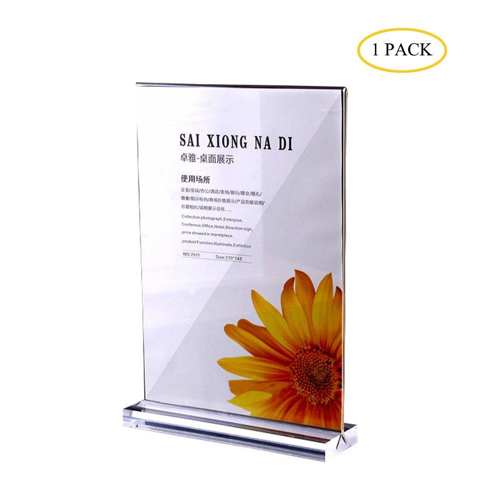 Segno del ritratto poster espositore, A4in acrilico trasparente e double–Sided presentazione, presentazione supporto adatto per pubblicità, Price list, istruzioni, ecc. Wapoo
