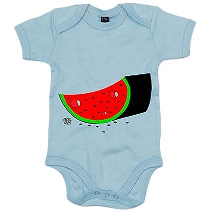 Body bebé sandía - Celeste, 12-18 meses: Amazon.es: Bebé