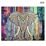 GohEunGyung shop Indian Mandala Tapestry Hippie Wall Hanging Elephant Twin Bedspread Throw Decor