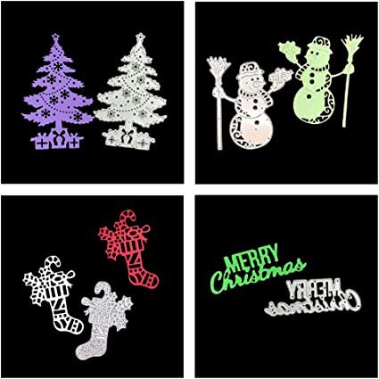 Merry Christmas Design Metal Cutting Dies For DIY Scrapbookings Card Paper SR
