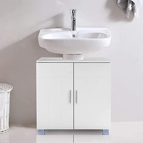 SSLine Under Sink Vanity Cabinet Free Standing Bathroom Sink Cabinet