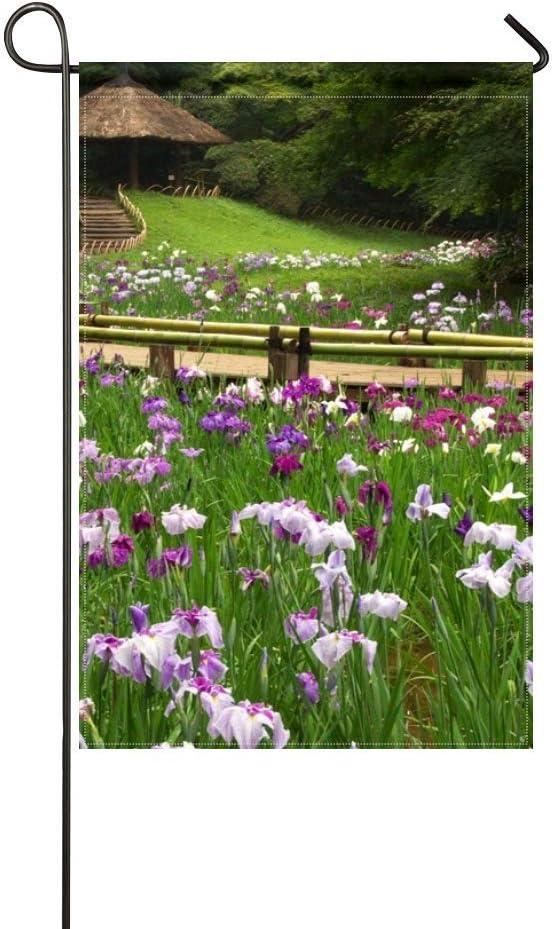 Amazon Com Zlu Garden Flag Irises Flowers Meadow Garden Greens 12x18 Inches Without Flagpole Garden Outdoor
