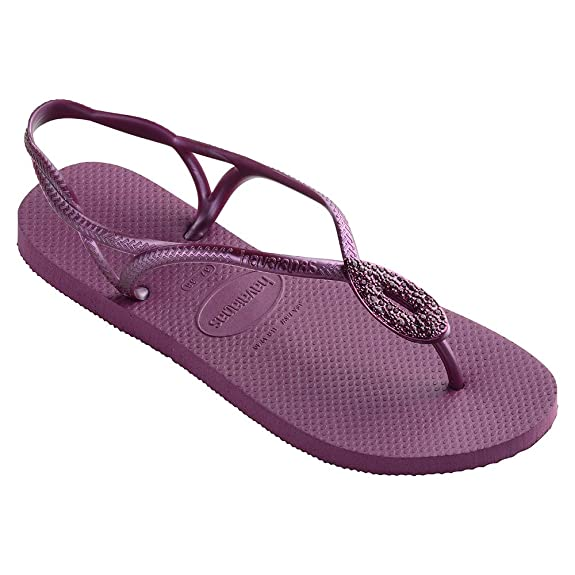 98b6180e9 Havaianas Women s Luna Special Swarovski Rubber Flip Flop New Pink   Amazon.co.uk  Shoes   Bags