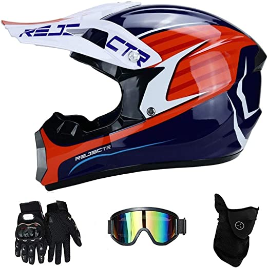 NJ Casco- Motocicleta de Motocross for Adultos Casco de ...