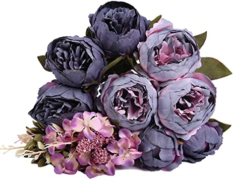 3pcs Realistic Peony 7-Head Artificial Fake Flowers Bouquet Wedding Party Pink