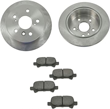 Rotors w//Ceramic Pads OE Brakes Rear 2005 2006 Avalon Camry Solara