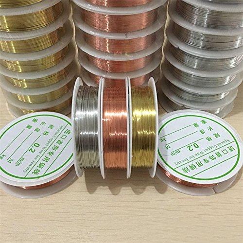 0.3 // 0.4 // 0.6 // 0.8mm Materiales de Joyer/ía Bricolaje Accesorios de Cuentas Hechos a Mano Alambre de Cobre L/íneas de Joyer/ía en Forma Bronce, 0.6 mm TM Chen Rui 7M