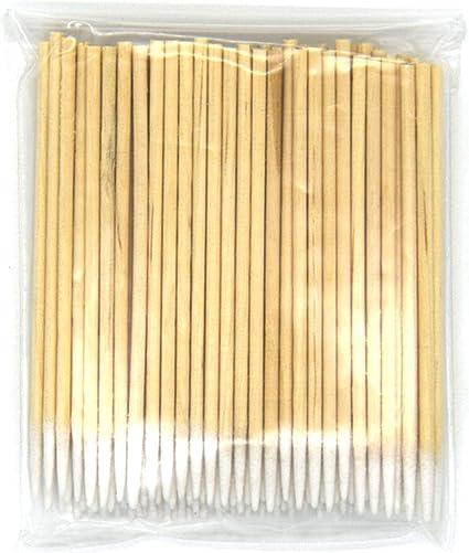 JiXUN - Juego de 100 bastones de algodón de algodón para doble bastón de madera, bastones de algodón/bastoncillos de algodón: Amazon.es: Belleza