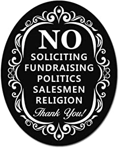 """No Soliciting Sign for Home and Business 