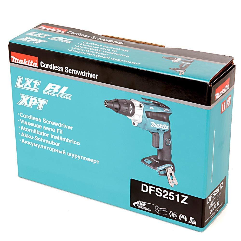 Makita DFS251Z 18V Li-ion LXT Brushless TEK Screwdriver Body Only