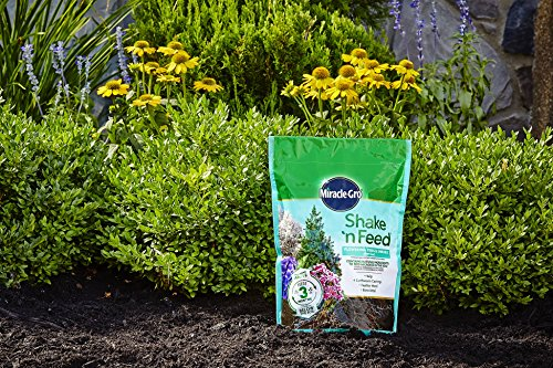 Miracle-Gro 3002410 Shake 'N Feed Flowering Trees and Shrubs Continuous Release Plant Food, 8 lb Brown/A