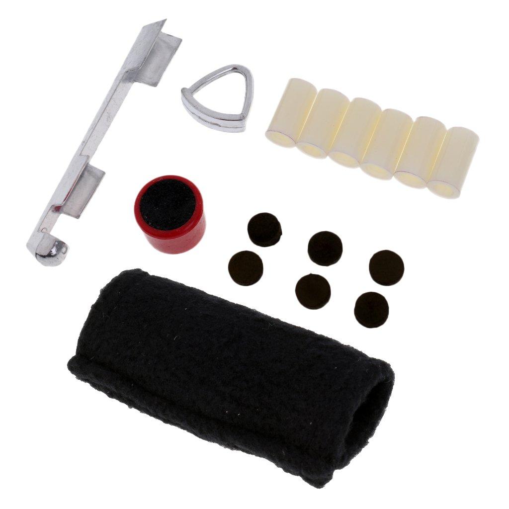 Gazechimp Conjunto de Productos de Reparacion de Billar Snooker con Paño de Limpieza Regalo para Deportista