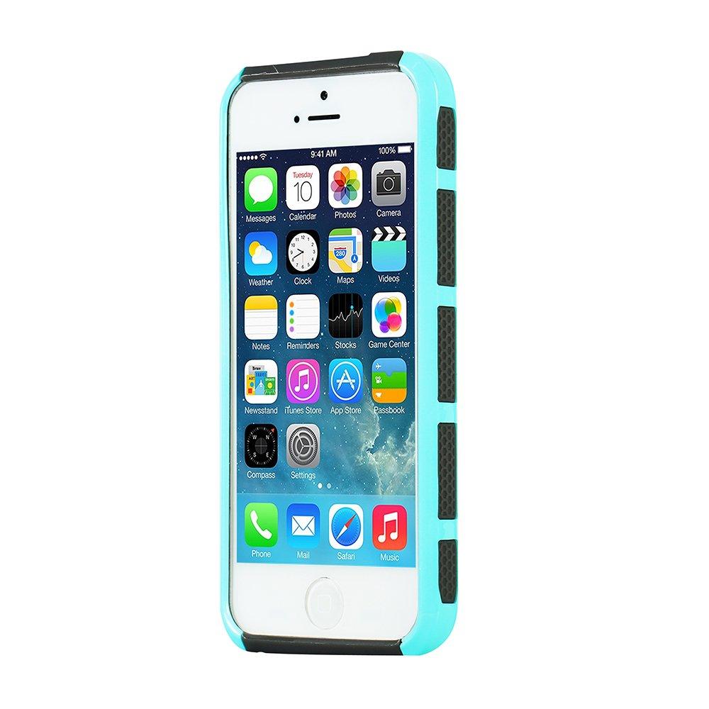 Funda iPhone SE / iPhone 5s / iPhone 5, MTRONX Cover Carcasa Caso Case Choque Absorción Híbrido Duro Suave Ultra Protector TPU Bumper Elegante para ...