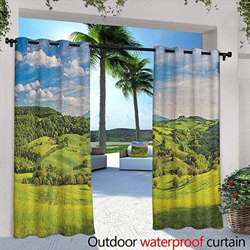 Marilds Tuscany Curtains for Living Room Tuscany Italy Sunlight Homestead Plantation Farms Pathway Greenery Print Simple Stylish 96