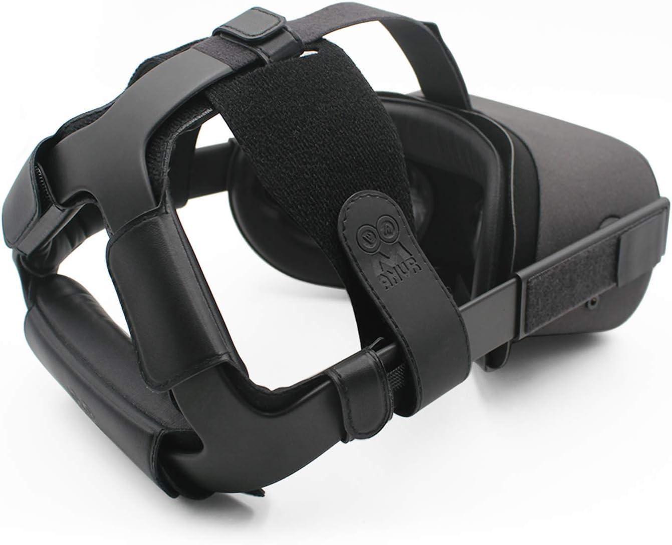 R/éduit la pression de la t/ête Am/éliore le confort Pi/èce de rechange avec coussin de t/ête Accessoires de r/éalit/é virtuelle MOVKZACV Sangle de t/ête r/églable pour casque Oculus Quest 2 VR